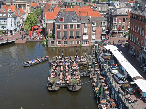 Canal Restaurants in Leiden Holland